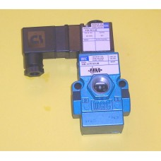 MAC Valves Solenoid Valve 55B-12-PI-501-JB, 3/8 NPT, Single Solenoid, 3-way normally closed, 24vdc