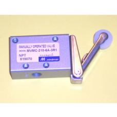 Mindman Roller Lever Valve Model MVMC-210-3R1, 3-Way, 1/8 NPT