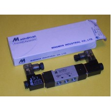 Mindman Solenoid Valve MVSD-180-4E2-AC220V, 1/8 NPT, Double Solenoid, 220VAC