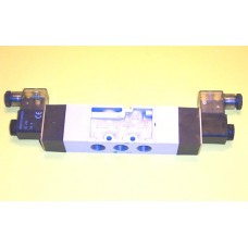 Mindman Solenoid Valve MVSC-300-4E2R, 3/8 NPT, Double Solenoid, 3 Pos, Exhausted Center,  specify voltage