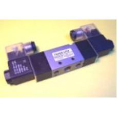 Fastek USA Solenoid Valve N4V-230C-06, 1/8 NPT, Double Solenoid, 3 Pos, Blocked,  specify voltage, 4V230C-06